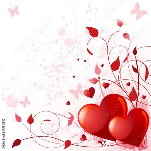 Fotografie, Obraz  Valentine day card
