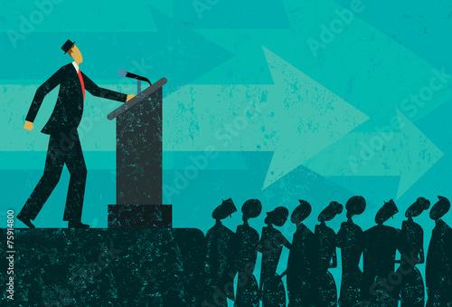 Fotografie, Obraz  Public Speaker