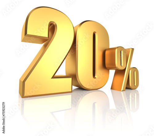 Fotografia  Gold 20 Percent