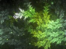 Fractal Tree Branch, Christmas Theme, Digital Artwork