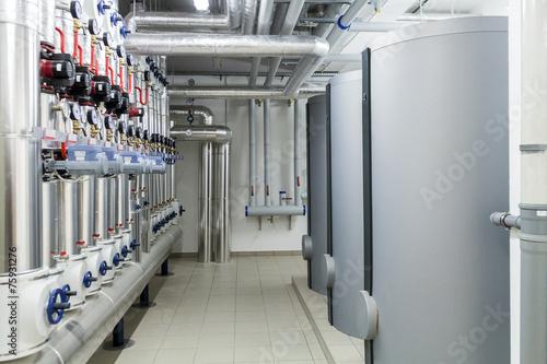 Staande foto Industrial geb. Modern efficient heating system.