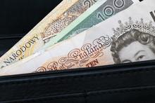 Pieniądze, Funty, Złotówki, Portfel, Emigracja
