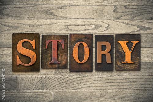 Fotografie, Obraz  Story Concept Wooden Letterpress Type