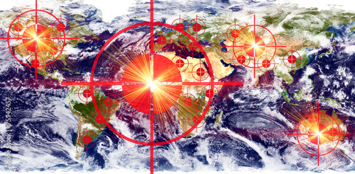 Fotografía  Ziele auf der Erde - Earth texture by NASA.gov