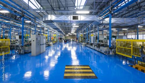 Stabilimento industriale, interno Canvas Print