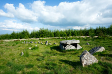 Burial Cist And Stone Row Bellever Dartmoor Devon Uk