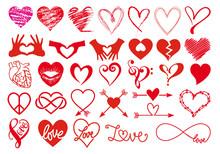 Heart And Love, Big Vector Set