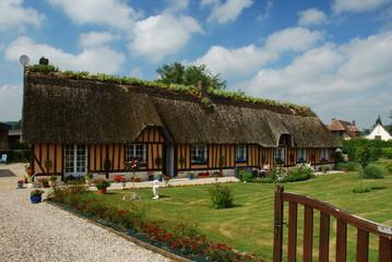 Fototapeta na wymiar Chaumière, Normandie