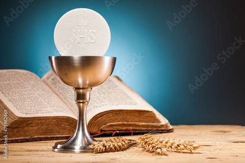 Carta da parati Christian holy communion