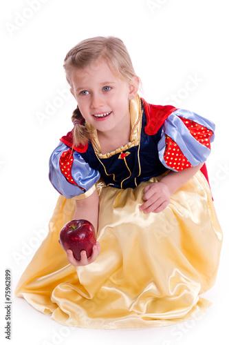 Fotografie, Obraz  Schneewittchen mit roten Apfel - freischneider