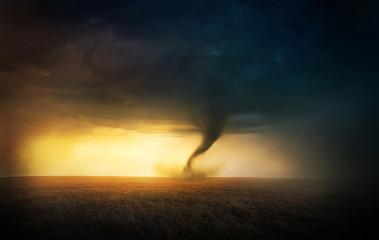 Tornado zachód słońca