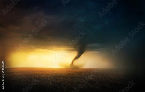Zachód słońca Tornado