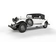 Old white vintage car