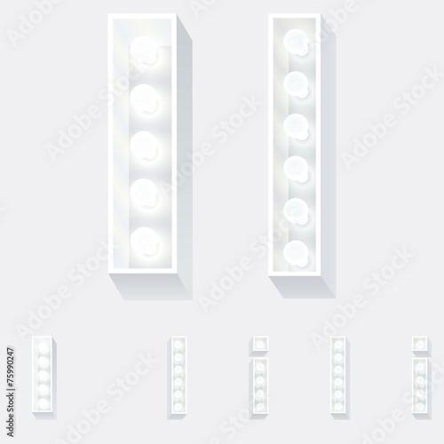 Unusual white lamp alphabet for light board  Letter i - Buy this