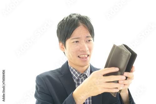 Fotografie, Obraz  財布を持つ男性