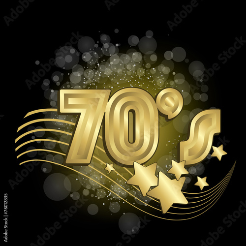 Photographie  Black and Gold 70's