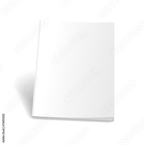 Photographie  Magazine vide sur fond blanc. Blanc parfait