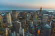 Aerial View of New York at Dusk