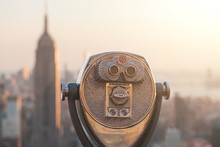 Binocular With New York Skyscr...