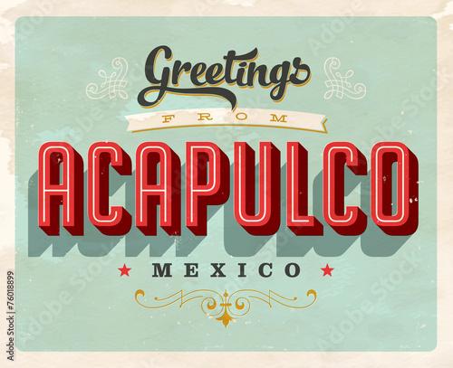Fotografija  Vintage Touristic Greeting Card - Vector EPS10