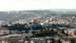 Old Jerusalem landscape from Mount Scopus at the winter day