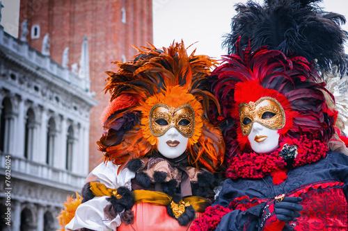 Stickers pour portes Venise Carneval mask in Venice - Venetian Costume