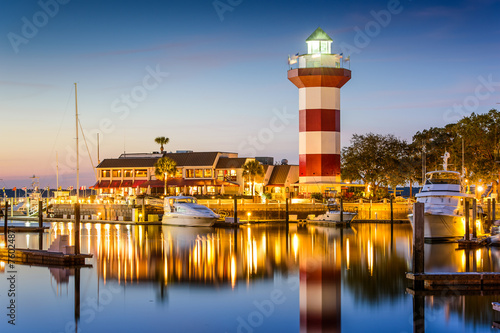 Hilton Head, South Carolina, USA Lighthouse at Twilight