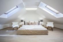 Bright Attic Bedroom In The  A...