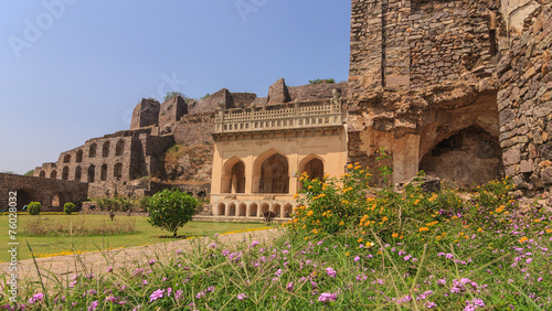 Historical architecture at Golkonda Fort, Hyderabad, India Wallpaper Mural