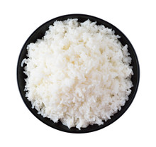 Rice In A Bowl On A White Back...