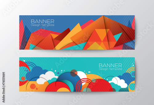 Fotografía  Abstract colorful polygon banner design template