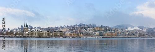 Photographie  Panorama de Lucerne en hiver, Suisse