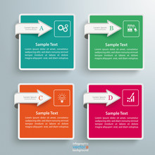 4 Square Arrows Infographic