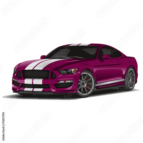 Foto op Aluminium Cartoon cars Voiture de sport-magenta