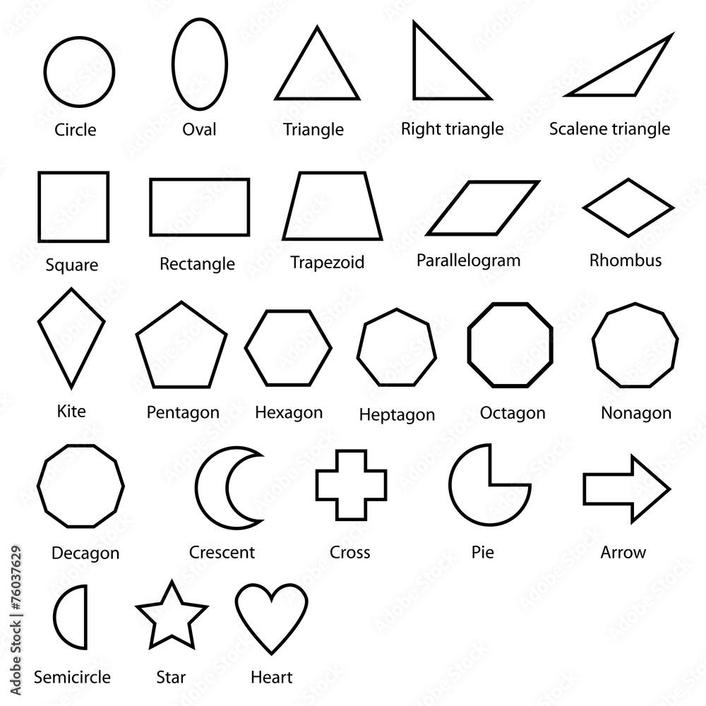 Geometrische formen vektor foto poster wandbilder bei europosters - Geometrische wandbilder ...