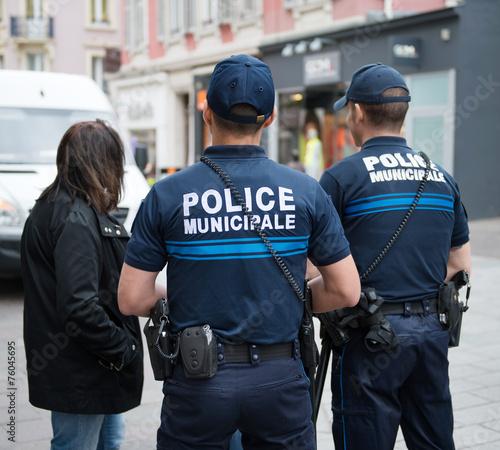 Fotografie, Obraz  Police municipale