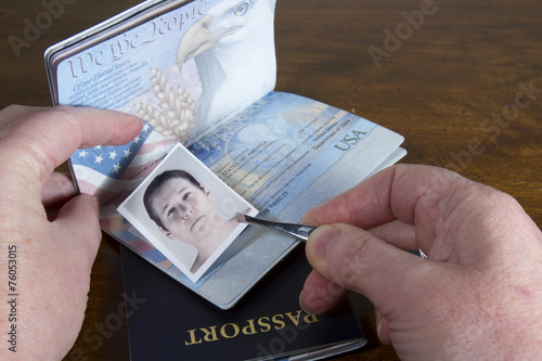Fotografie, Tablou  Forging Travel Documents
