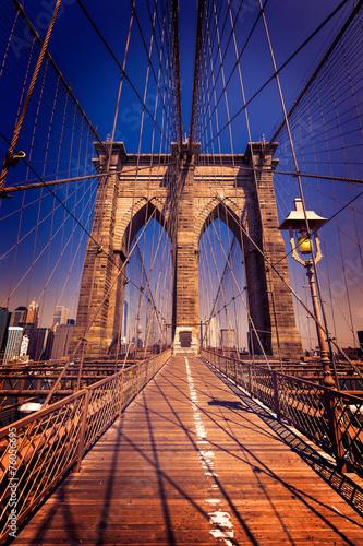 Keuken foto achterwand New York Brooklyn Bridge and Manhattan New York City US