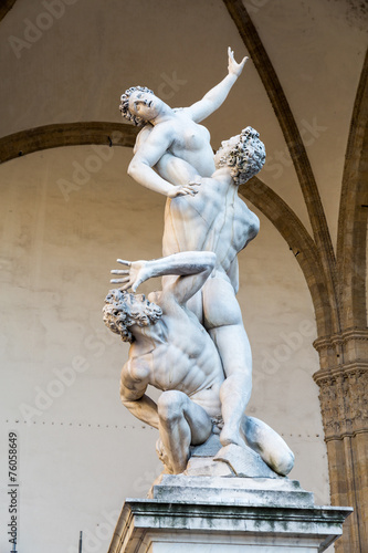 The Rape of the Sabine Women, signoria square, florence, italy Canvas Print