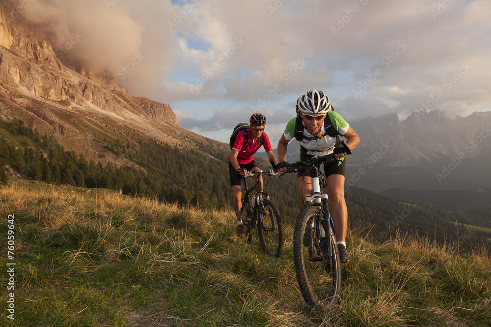 Competition Race on a mountain bike Poster
