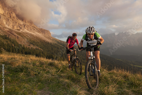 Plakat Competition Race on a mountain bike