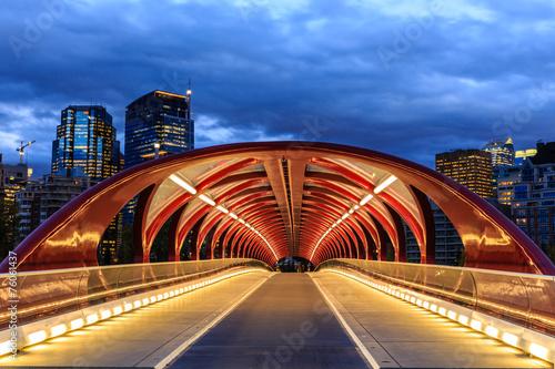 Spoed Foto op Canvas Canada Calgary at night