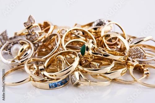 obraz PCV Złota biżuteria