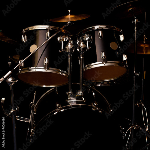 Tableau sur Toile Fragment of a drum kit in dark colors
