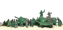 Battle Tanks Plastic Toy Panorama
