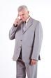 Concerned senior businessman