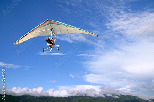 Canvas Prints Sky sports Flight Motorized hang glider