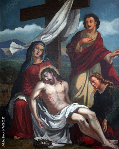 13th Stations, Jesus' body is removed from the cross - 76080287