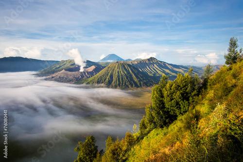Aluminium Prints Indonesia Mount Bromo at Sunrise, Java, Indonesia