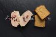 canvas print picture - Tranche de Foie gras sur Ardoise